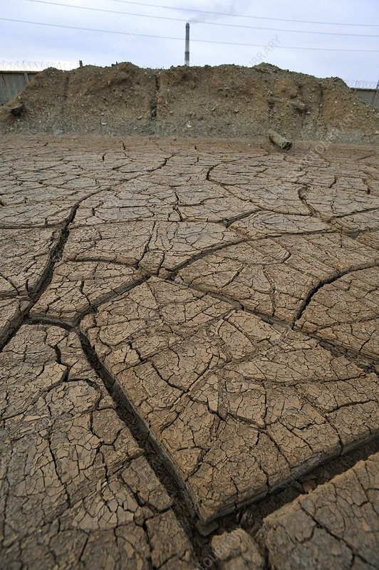 Parched soil in Chelyabinsk, Russia