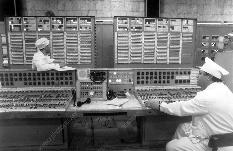 Control room of Tomsk-7 nuclear plant
