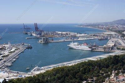 Docks in Malaga, Spain