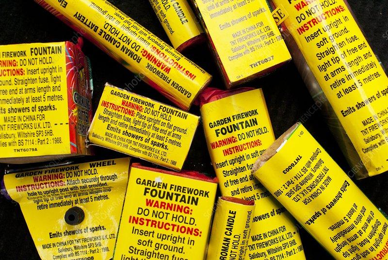 Firework safety warnings