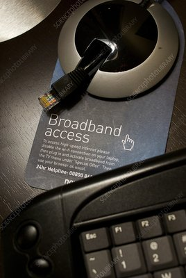 Broadband access facilities in hotel room
