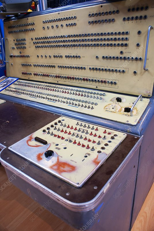 Control console in Baikonur space museum