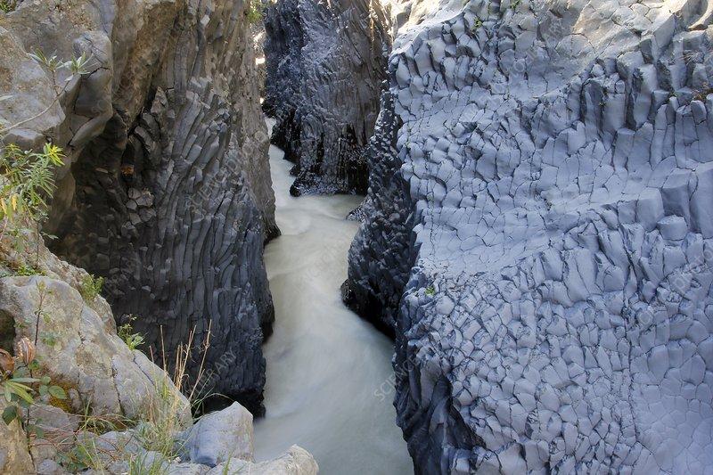 Alcantara river, Italy