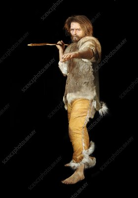 Cro-Magnon hunter model