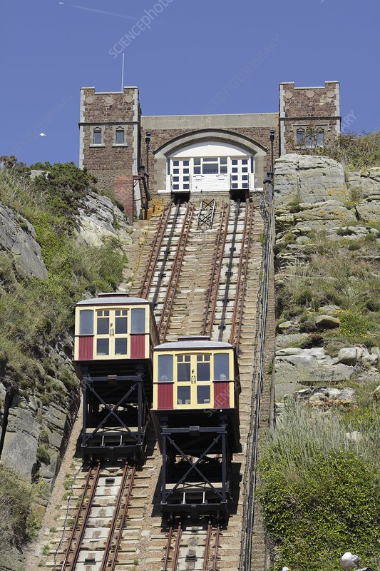Funicular railway, Hastings, UK