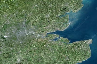 South East England, satellite image