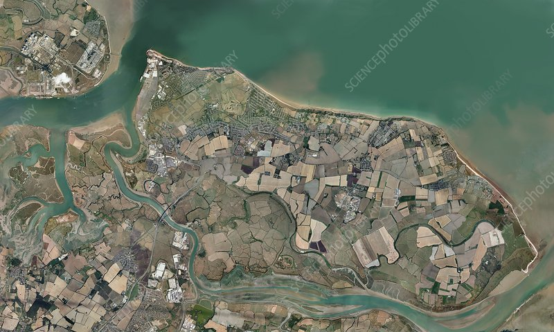Isle of Sheppey, UK, aerial view