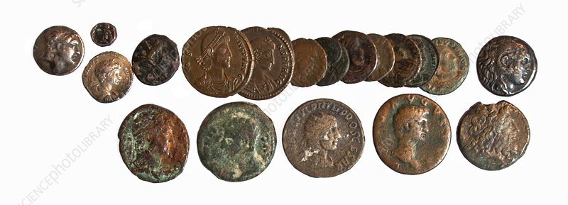 19 Greek, Phoenician and Roman coins