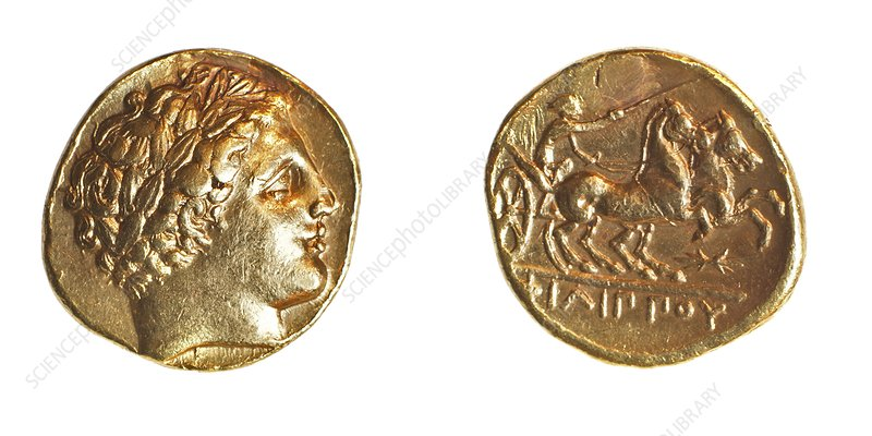 Philip II gold coin