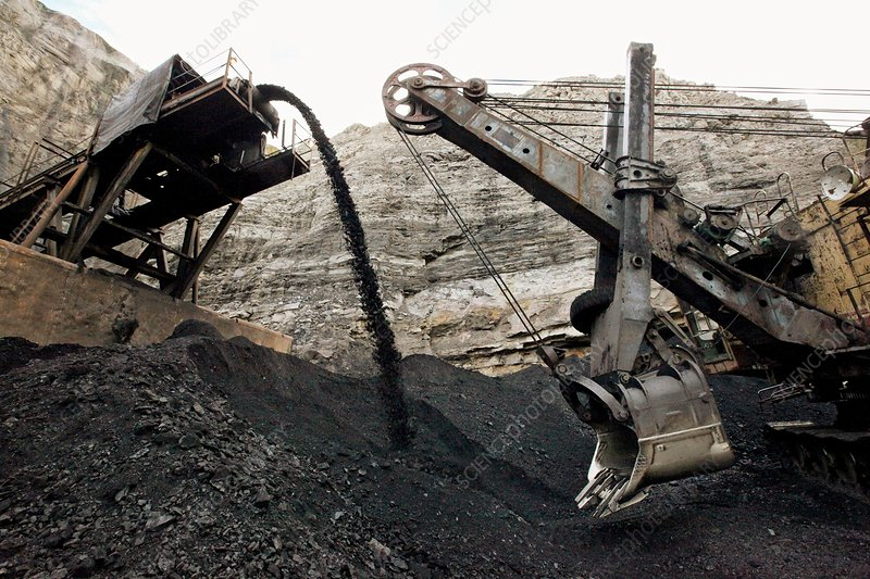 Mechanical shovel at a coal mine