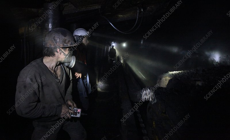 Workers in a coal mine