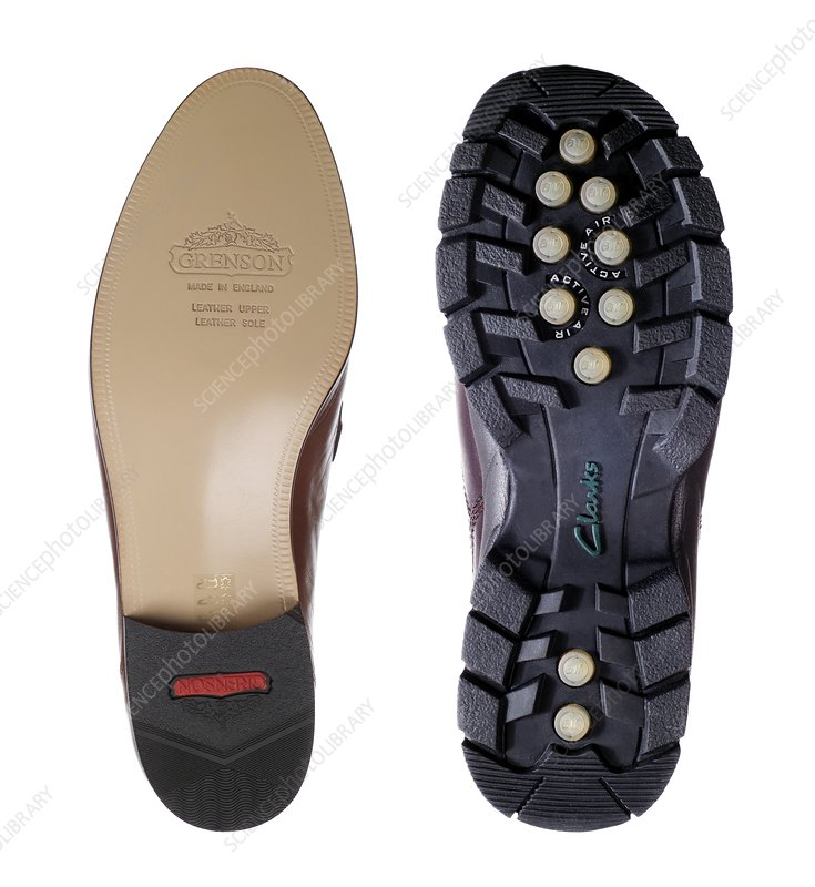 Smooth and rough shoe soles