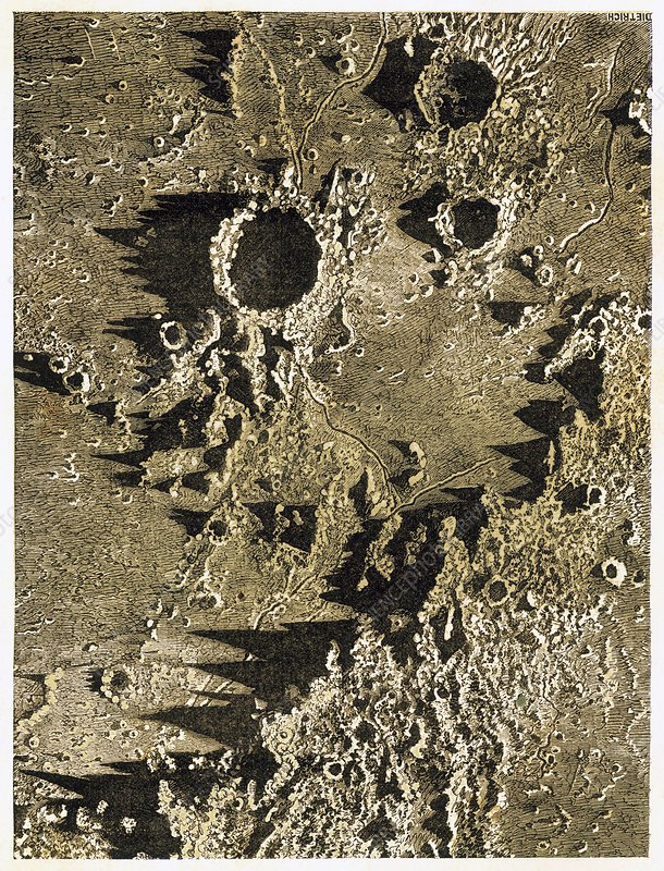 Lunar craters, 19th century