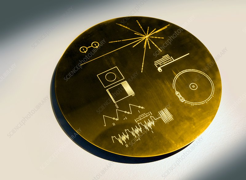Voyager spacecraft plaque, artwork