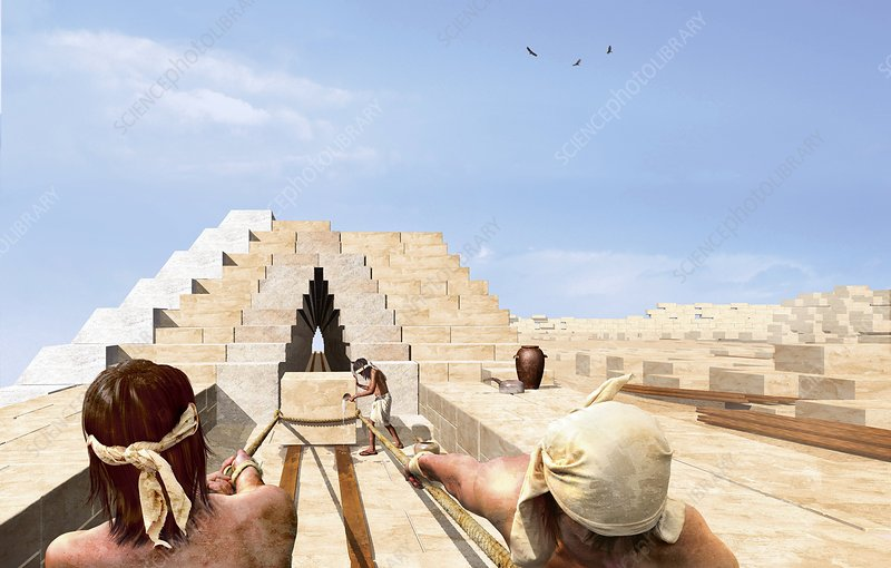 Building the pyramids, artwork