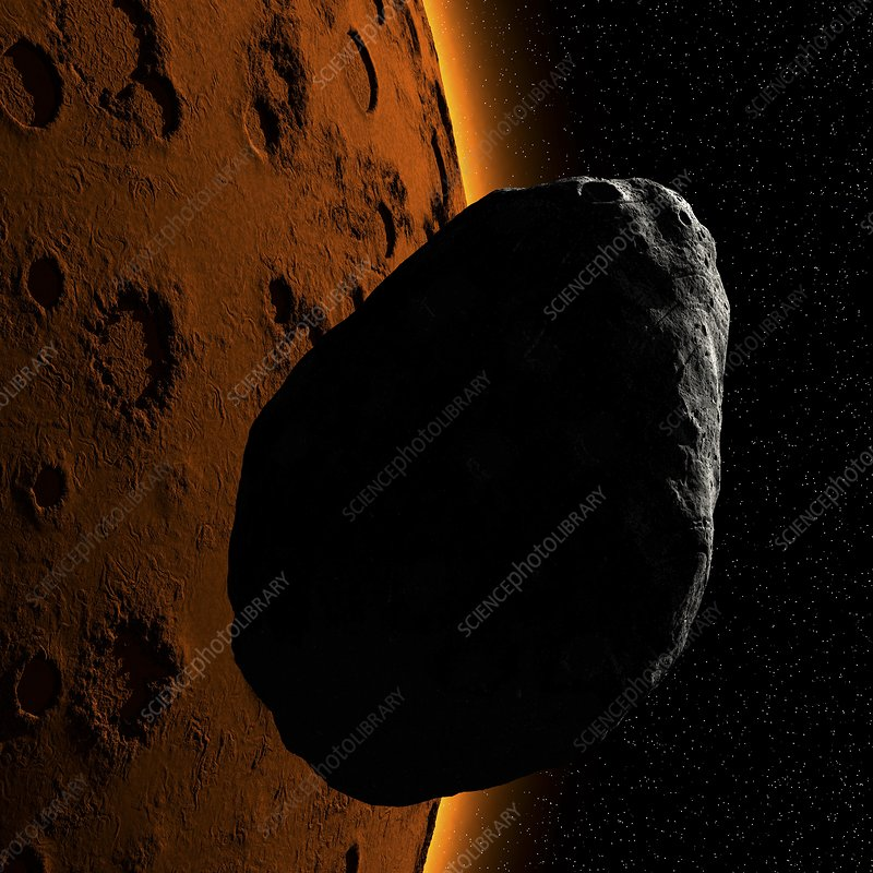 Martian moon Phobos, artwork