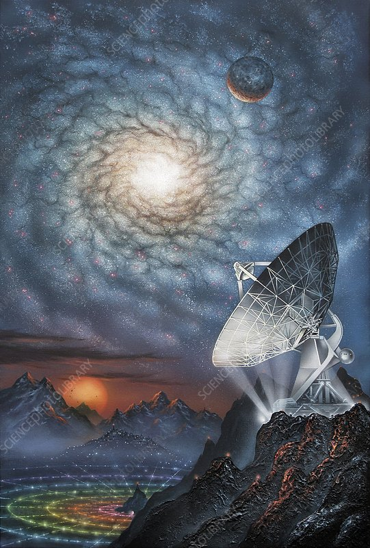 Alien radio telescope, artwork