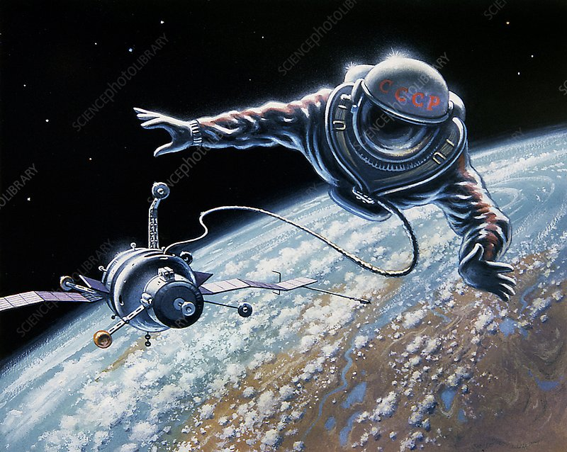 Soviet space-walk, artwork