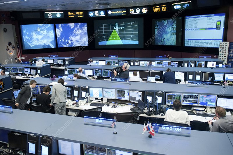 SpaceX Dragon capsule mission control - Stock Image C014 ...