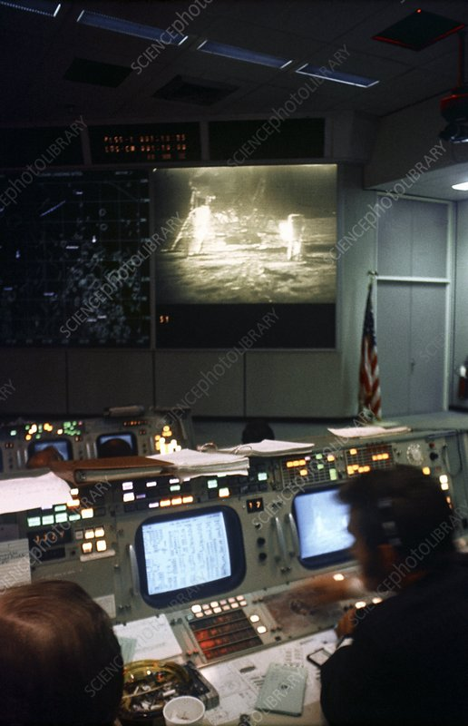 Apollo 11 moon landing mission control