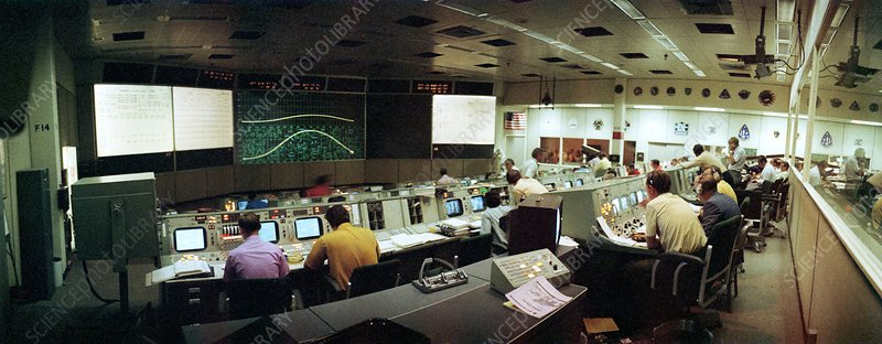 Apollo 15 moon landing mission control