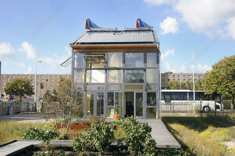 Zero-energy eco-house, France