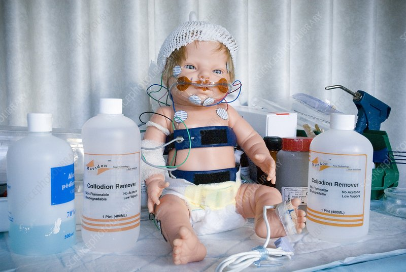 Paediatric sleep study demonstration doll