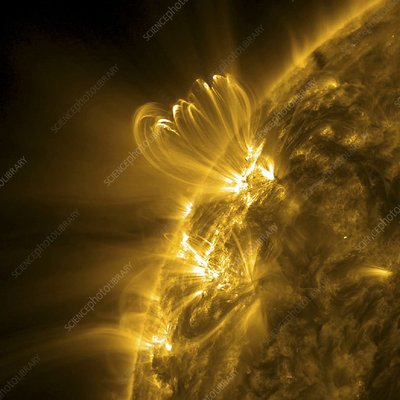 Solar activity, SDO ultraviolet image
