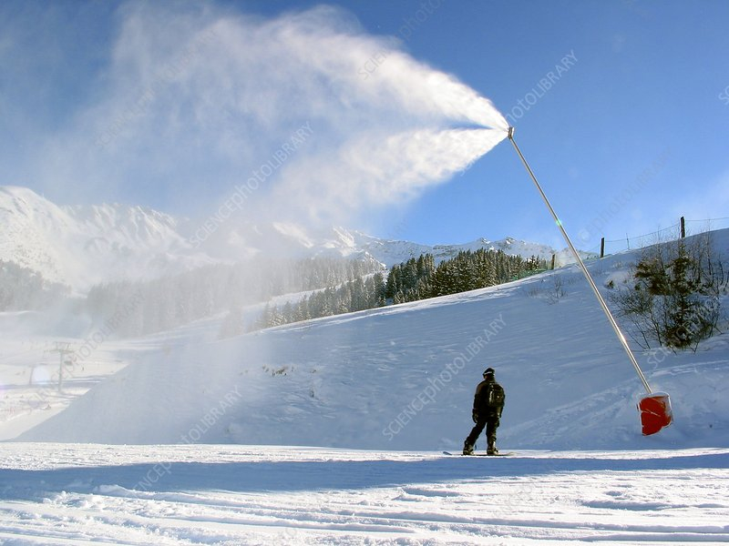 Snow cannon at a ski resort