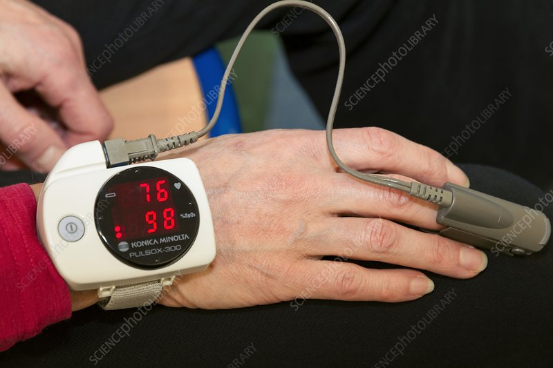COPD research, pulse oximeter