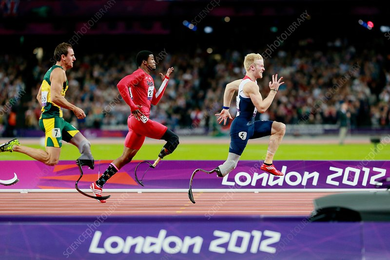 Paralympic sprinters, London 2012
