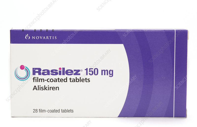 Pack of Aliskiren tablets
