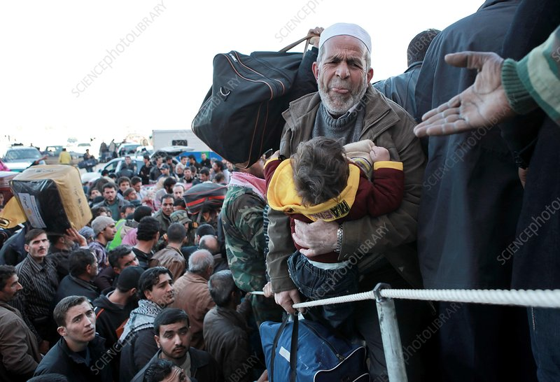 Refugees leaving Libya, 2011