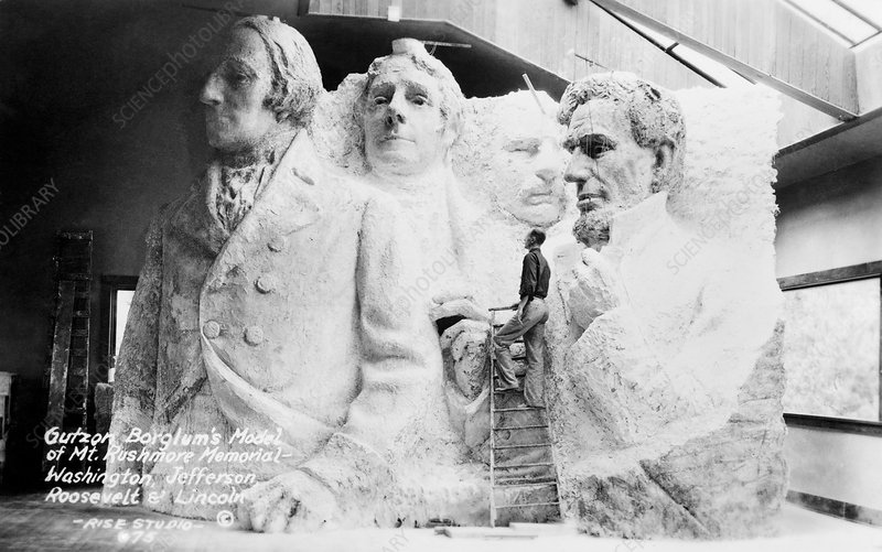 Mount Rushmore model