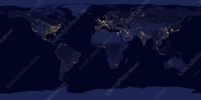 Earth at night, satellite image