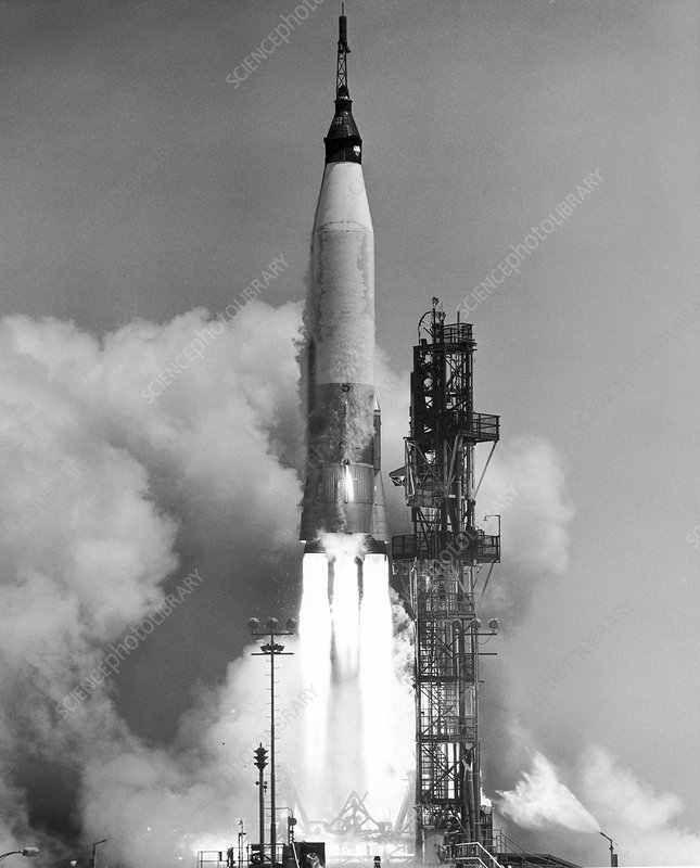 Mercury-Atlas 3 rocket launch, 1961