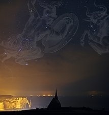 Orion and Taurus over Normandy, France