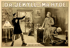 Jekyll and Hyde story illustration, 1880s