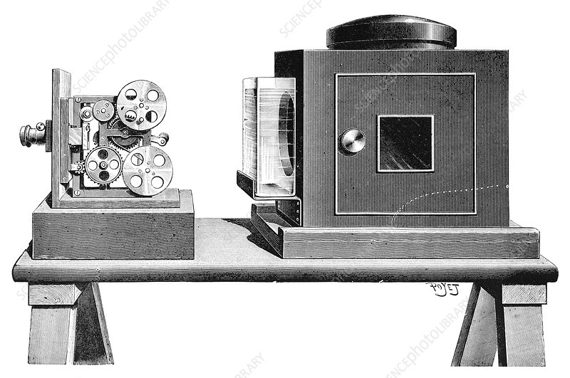Kinetographe projector, 1897 - Stock Image - C014/9176