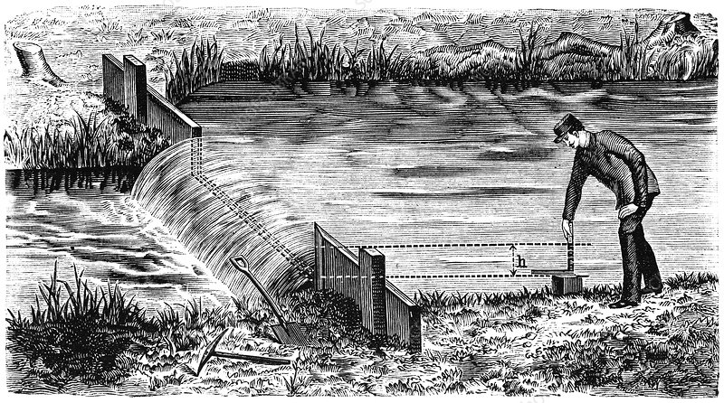 Weir and river measurements, 1897