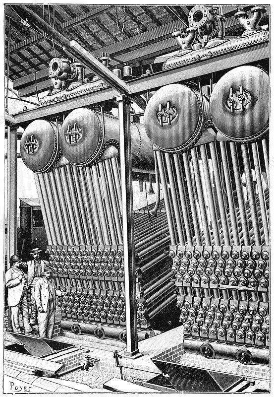 Babcock and Wilcox boilers, 1897