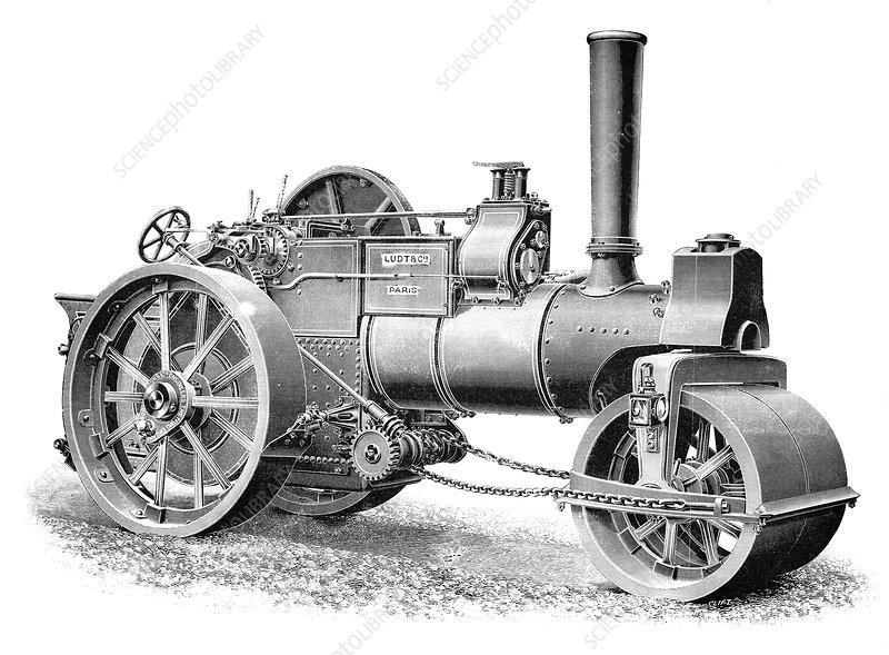 Burrell steamroller, 1897