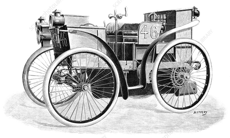 First car to use Michelin tyres, 1897