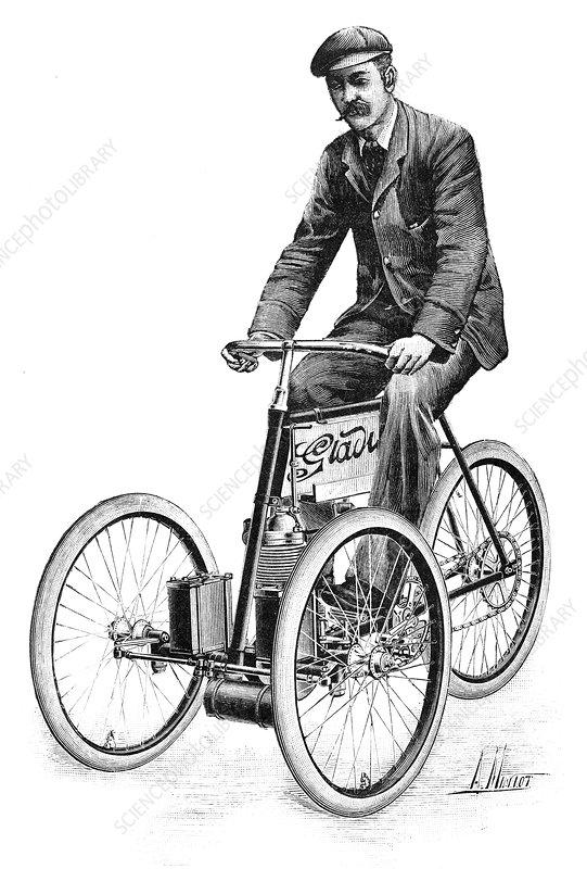 Gladiator petrol tricycle, 1897