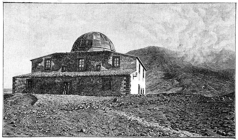 Mount Etna observatory, artwork