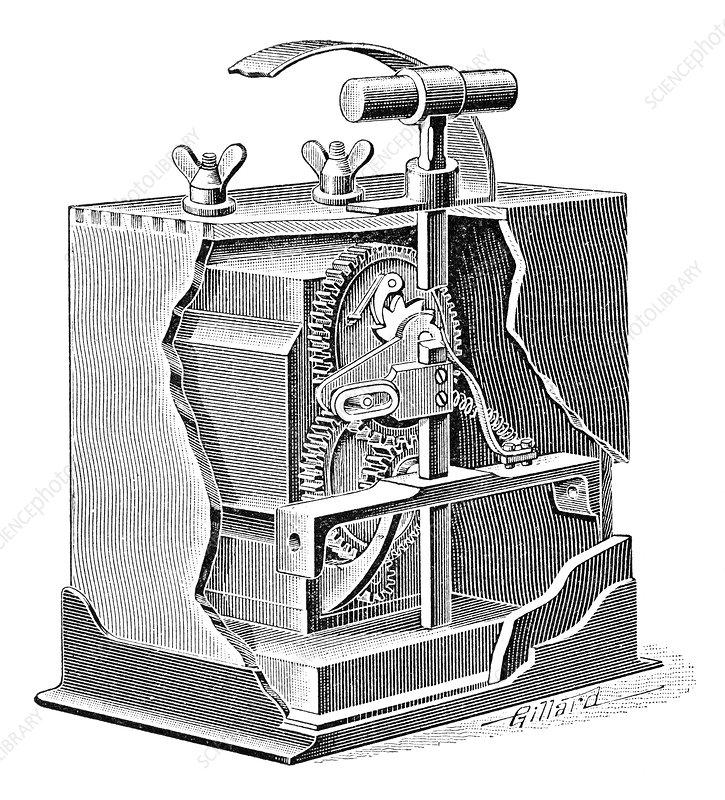 Blasting trigger mechanism, artwork
