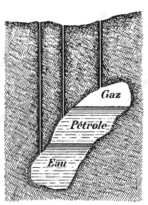 Underground oil deposit, artwork