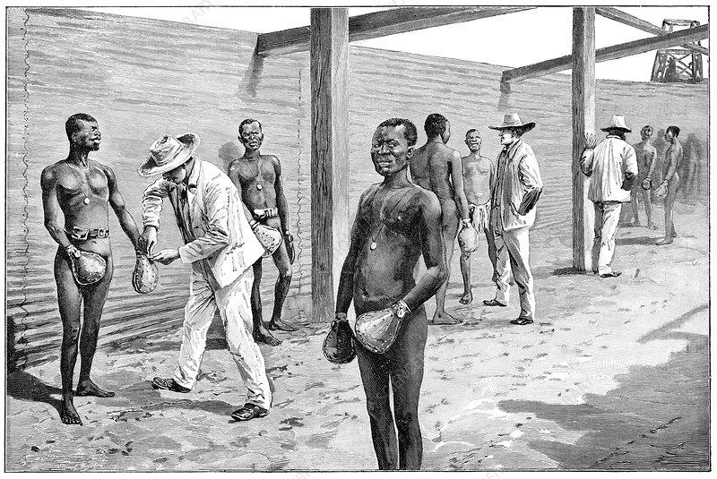 Diamond mine workers, artwork