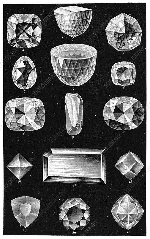 Famous diamonds, artwork
