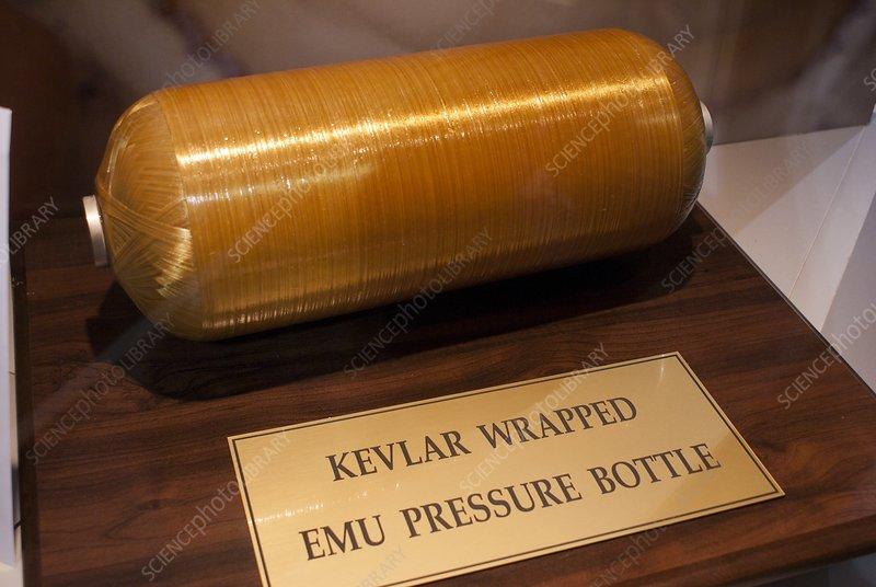 Kevlar-wrapped spacesuit pressure bottle